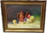 Quadro dipinto ad olio natura morta