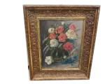 Quadro fiori dipinto ad olio