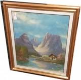 Quadro dipinto ad olio 65 x 80