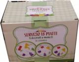 Servizio piatti in ceramica 18 pz