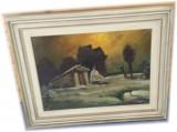 Quadro dipinto ad olio C Borrini